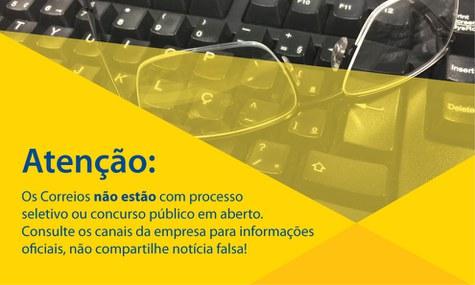 Correios informa que NÃO possui concursos abertos ou previstos!